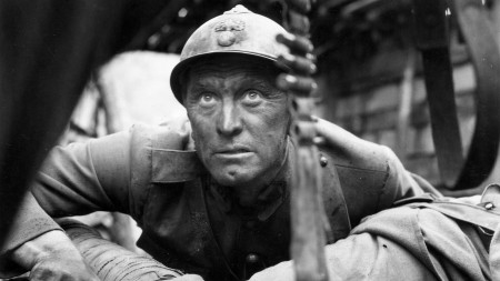 Kirk Douglas stars in 'Paths of Glory', directed by Stanley Kubrick.